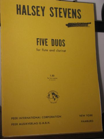 Stevens H - Five Duos for Flute & Clarinet